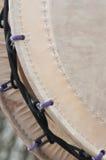 Detalhe de um grande cilindro do taiko Imagens de Stock