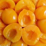 Detalhe de um grupo de pêssegos imagem de stock