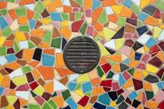 Detalhe de um mosaico de vidro colorido Fotografia de Stock