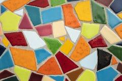 Detalhe de um mosaico de vidro colorido Fotos de Stock Royalty Free