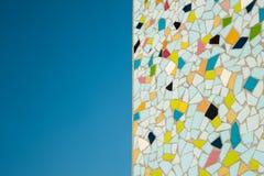 Detalhe de um mosaico de vidro colorido Foto de Stock