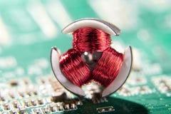 Detalhe de um motor elétrico fotografia de stock royalty free