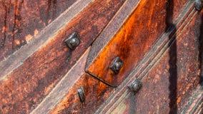 Detalhe de um navio construído clinquer de viquingue Imagem de Stock Royalty Free