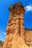 Detalhe de um pilar corroído do arenito Imagens de Stock Royalty Free