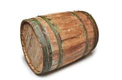 Detalhe de um tambor Textured de madeira e do ferro da cervejaria Fotos de Stock