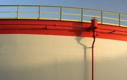 Detalhe de um tanque de petróleo Foto de Stock Royalty Free