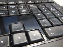 Detalhe de um teclado de computador preto Foto de Stock Royalty Free