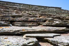 Detalhe de um telhado de ardósia Fotografia de Stock Royalty Free