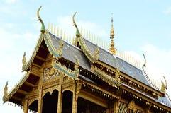 Detalhe de um telhado do monastério budista, Tailândia Fotos de Stock Royalty Free
