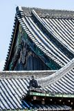 Detalhe de um telhado japonês Fotografia de Stock