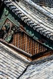 Detalhe de um telhado japonês Imagem de Stock