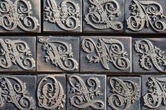 Detalhe de um tipo caixa para letras da caligrafia Fotografia de Stock
