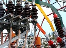 Detalhe de um transformador em um central elétrica Fotografia de Stock