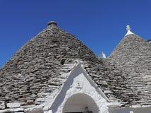 Detalhe de um trullo em Alberobello, região de Apulia em Itália do sul imagem de stock royalty free