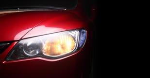 Detalhe de um vermelho sportscar fotos de stock