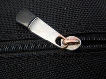 Detalhe de um zíper em uma tela Fotografia de Stock