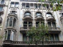 Detalhe de uma construção na cidade velha na Espanha Foto de Stock