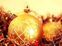 Detalhe de uma decoração do Natal Fotos de Stock