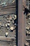 Detalhe de uma estrada de ferro fotos de stock