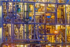 Detalhe de uma estrutura do central química fotos de stock