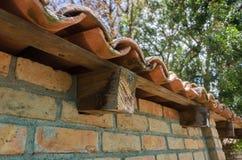 Detalhe de uma estrutura de telhado fotos de stock