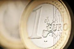 Detalhe de uma euro- moeda Imagem de Stock