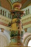 Detalhe de uma fonte do século XIX - Baile Herculane - Romênia imagens de stock