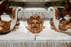 Detalhe de uma fonte, jardim de San Ildefonso, Espanha fotografia de stock