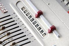 Detalhe de uma máquina calculadora velha Foto de Stock