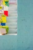 Detalhe de uma parede azul Foto de Stock Royalty Free