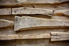 Detalhe de uma parede de madeira Fotos de Stock Royalty Free