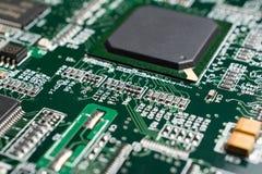 Detalhe de uma placa de circuito impresso eletrônica Imagem de Stock Royalty Free