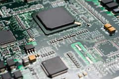 Detalhe de uma placa de circuito impresso eletrônica Fotos de Stock