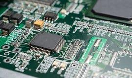 Detalhe de uma placa de circuito impresso eletrônica Fotografia de Stock Royalty Free
