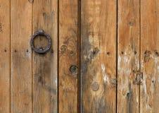 Detalhe de uma porta mediterrânea velha Imagem de Stock