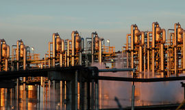 Detalhe de uma refinaria 11 Foto de Stock Royalty Free