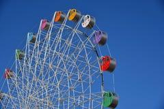 Detalhe de uma roda de ferris colorida Fotografia de Stock Royalty Free