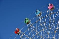 Detalhe de uma roda de ferris colorida Imagens de Stock