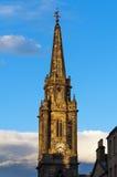 Detalhe de uma torre com o pulso de disparo na rua principal, Edimburgo, Escócia Fotografia de Stock Royalty Free
