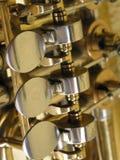 Detalhe de uma tuba Foto de Stock Royalty Free