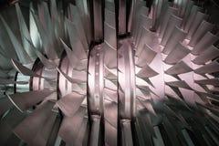 Detalhe de uma turbina aeronáutica Foto de Stock Royalty Free