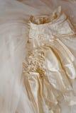 Detalhe de vestido de casamento Imagem de Stock Royalty Free