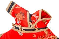 Detalhe de vestido do chinês Imagem de Stock