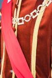 detalhe de vestidos italianos antigos e históricos fotografia de stock royalty free