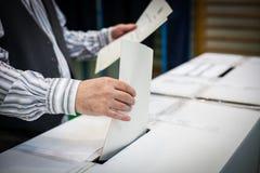 Detalhe de votação da mão Foto de Stock Royalty Free