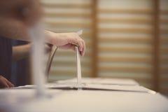 Detalhe de votação da mão Fotografia de Stock