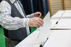 Detalhe de votação da mão Imagem de Stock