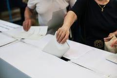 Detalhe de votação da mão Foto de Stock