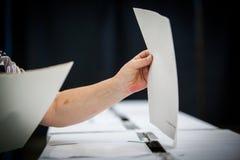 Detalhe de votação da mão Imagens de Stock