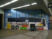 Detalhe de Zagreb da estação de ônibus Foto de Stock